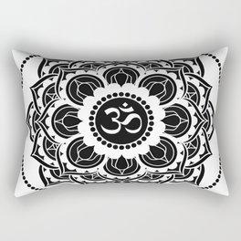 Black and White Mandala   Flower Mandhala Rectangular Pillow