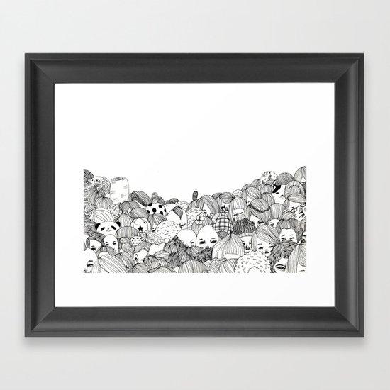 Human Jungle  Framed Art Print