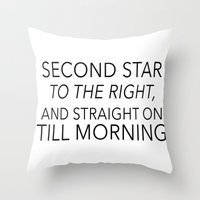 neverland Throw Pillows featuring NEVERLAND by Word with Friends