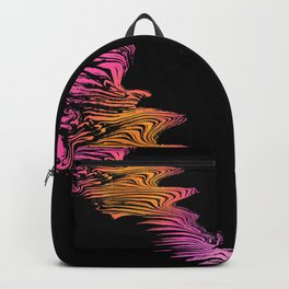 Left to Right Pink and Orange Flow Backpack