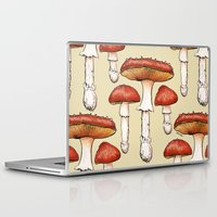 mushrooms Laptop & iPad Skins featuring Mushrooms by CHAR ODEN