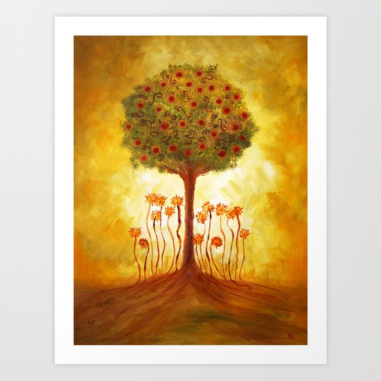 positive energy from the tree Art Print