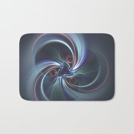 Moons Fractal in Cool Tones Bath Mat