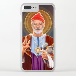 Saint Bill of Murray Clear iPhone Case