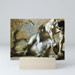 12,000pixel-500dpi - Franz von Stuck - Samson - Digital Remastered Edition Mini Art Print