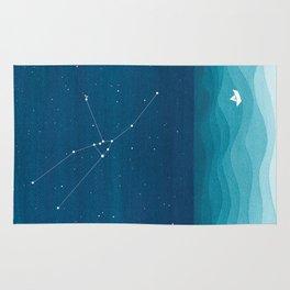 Taurus zodiac constellation Rug