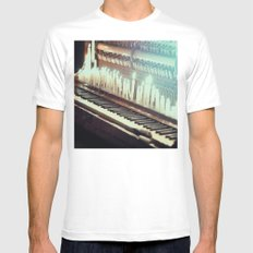 The sounds of ghosts White MEDIUM Mens Fitted Tee