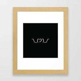 ¯\_(ツ)_/¯ Shrug - Black Framed Art Print