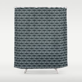 EXILE - deep indigo & white Shower Curtain