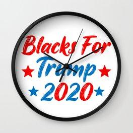 blacks for trump 2020 Wall Clock