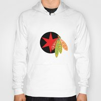blackhawks Hoodies featuring City of the Four Feathers - Alternate by fohkat