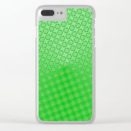 d20 Acid Green Critical Hit Pattern Clear iPhone Case