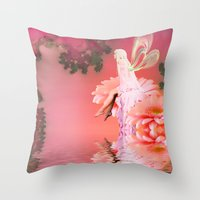 fairy Throw Pillows featuring Fairy by Shalisa Photography