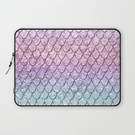 Mermaid Scales on Unicorn Girls Glitter #1 #shiny #pastel #decor #art #society6 Laptop Sleeve