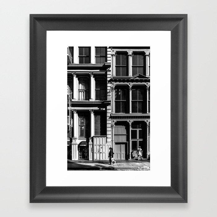 New York City, Soho Series, Black & White 3 Framed Art Print by ...