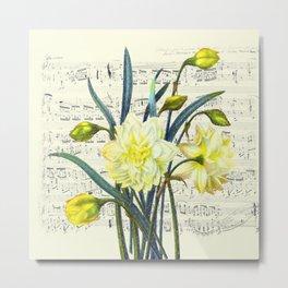 Daffodil Spring Song Metal Print