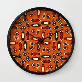 Orange paisley Wall Clock