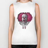 pennywise Biker Tanks featuring Pennywise by zinakorotkova