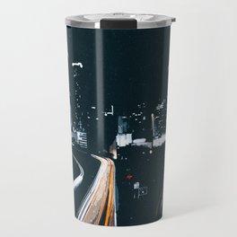 Atlanta Georgie Skyline at Night Travel Mug