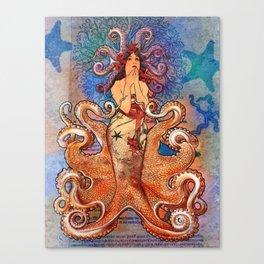 Cephalopod Girl Canvas Print