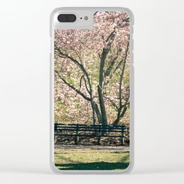 Magnolia's Bloom in Central Park Clear iPhone Case