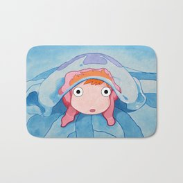 Ponyo on a Jellyfish Bath Mat