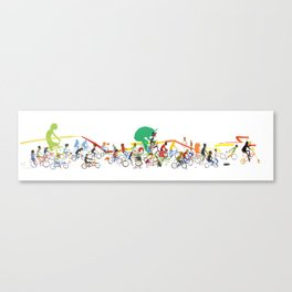 Bike Parade Print Canvas Print