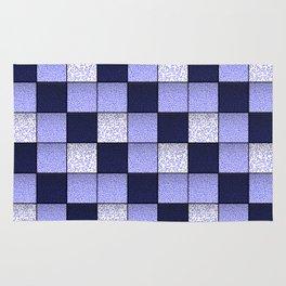 Blue Spotty Tiles Rug