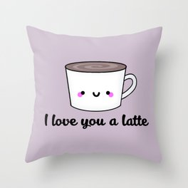 I Love You A Latte Throw Pillow