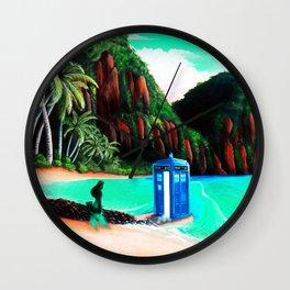 Tardis With Beauty Mermaid Wall Clock