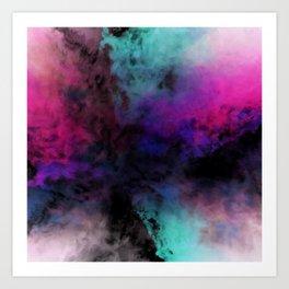 Neon Radial Dreams Art Print