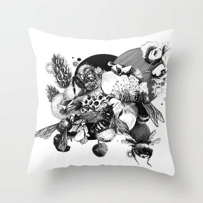 Busy Bee's Throw Pillow