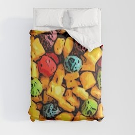 Captain's Crunch Breakfast Cereal Pattern Comforters