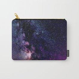 The Milky Way Midnight Blue & Purple Carry-All Pouch