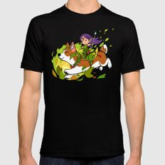 Corgi and Fairy - purple ver Mens Fitted Tee Black LARGE