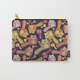 Crazy squirrel mess pattern Carry-All Pouch