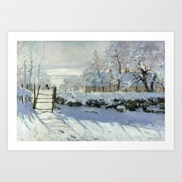 The Magpie by Claude Monet Art Print