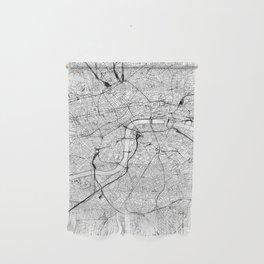 London White Map Wall Hanging