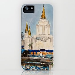 Oakland California LDS Temple Dusk iPhone Case