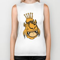outer space Biker Tanks featuring Weirdo from Outer Space by Adam Metzner