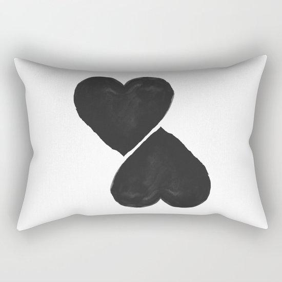 two hearts Rectangular Pillow
