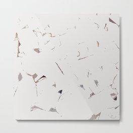 White Bricks Metal Print