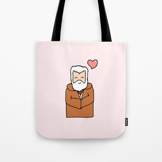 Obi-Wan Valentine Tote Bag