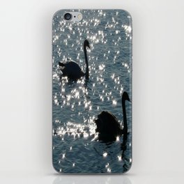 The Sparkle of the Swans iPhone Skin