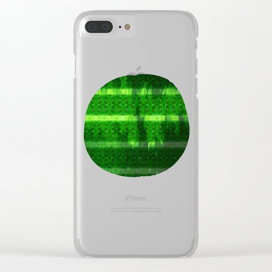 Metal Watermelon Rind Clear iPhone Case