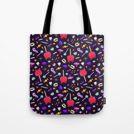 Halloween Candy Pattern Tote Bag