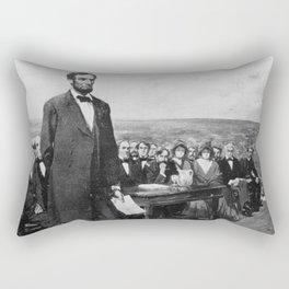 Abraham Lincoln Gettysburg Address Rectangular Pillow