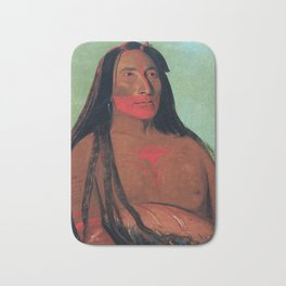 Máh-to-tóh-pa, Four Bears, Second Chief in Mourning, George Catlin Bath Mat