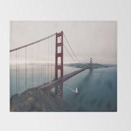 Golden Gate Bridge - San Francisco, CA Throw Blanket