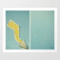bubbles Art Prints featuring Bubbles by Cassia Beck